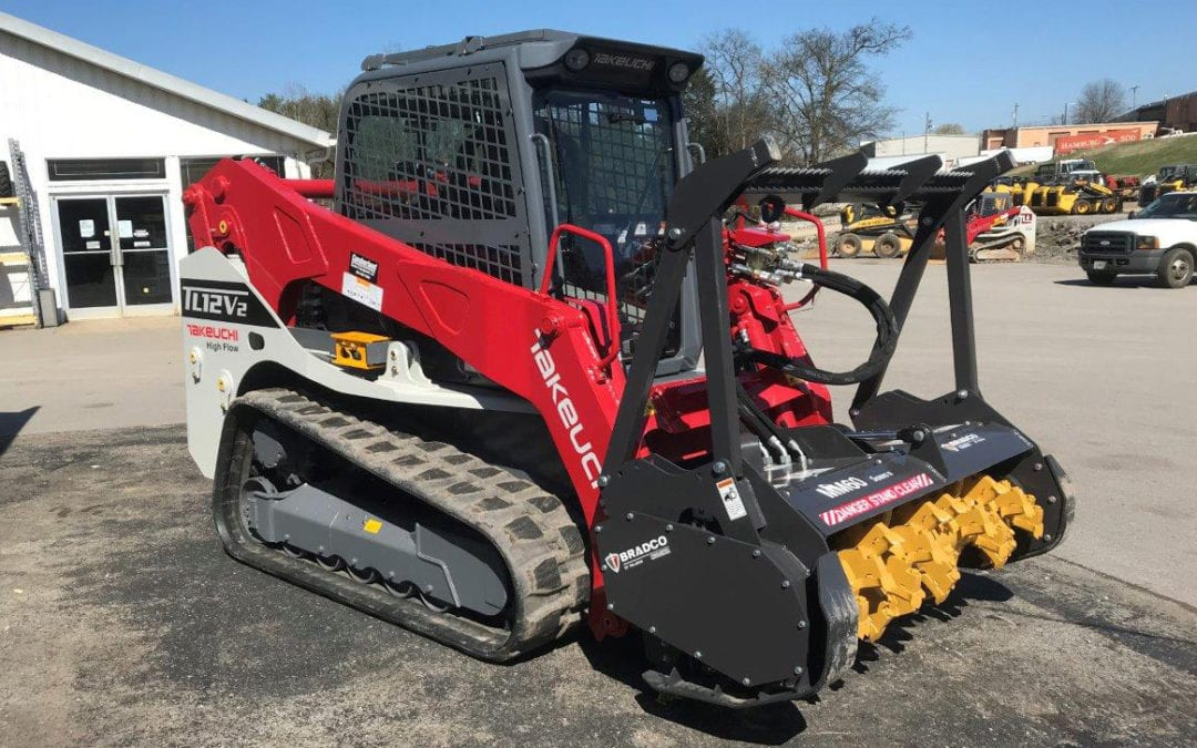Pair a Takeuchi TL12V2 with a Bradco SS Mulcher II MM72