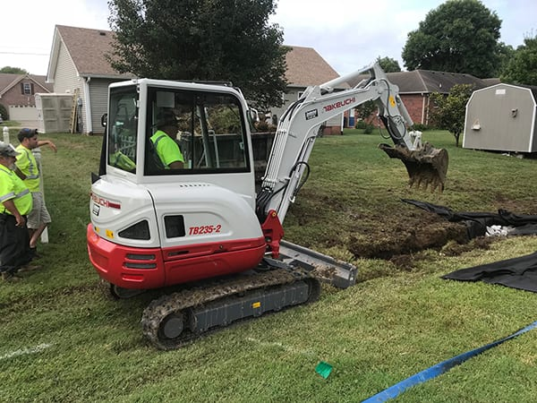 Gallatin Getting it Done with the Takeuchi TB235-2 Compact Excavator